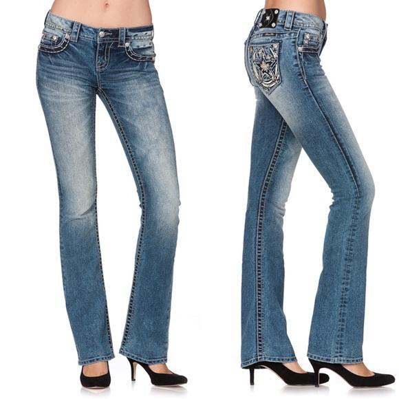 Miss Me Denim - Miss Me   horseshoe star bootcut jeans